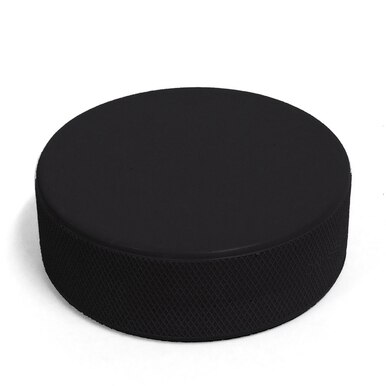 Regulation 6oz Black Hockey Puck