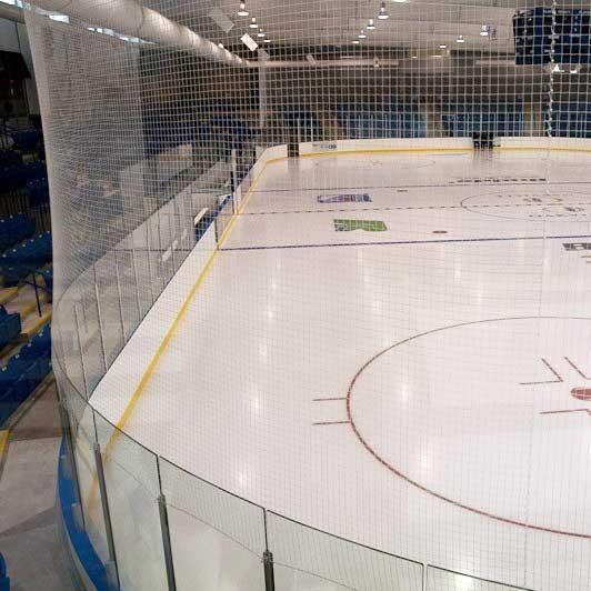 USED NHL White Netting - 20' x 120'
