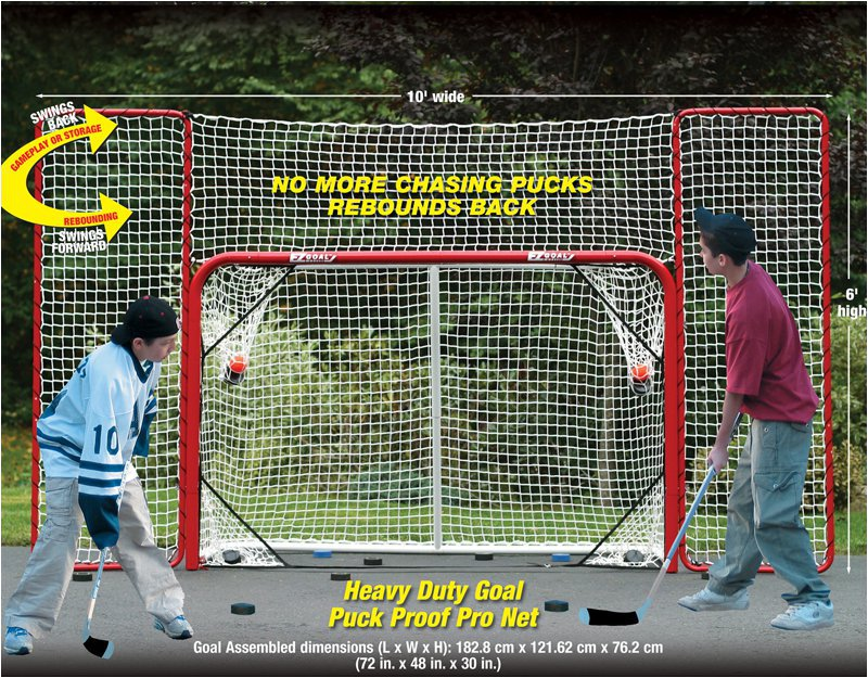 EZ Goal Hockey Goal with Backstop Rebounder and Targets