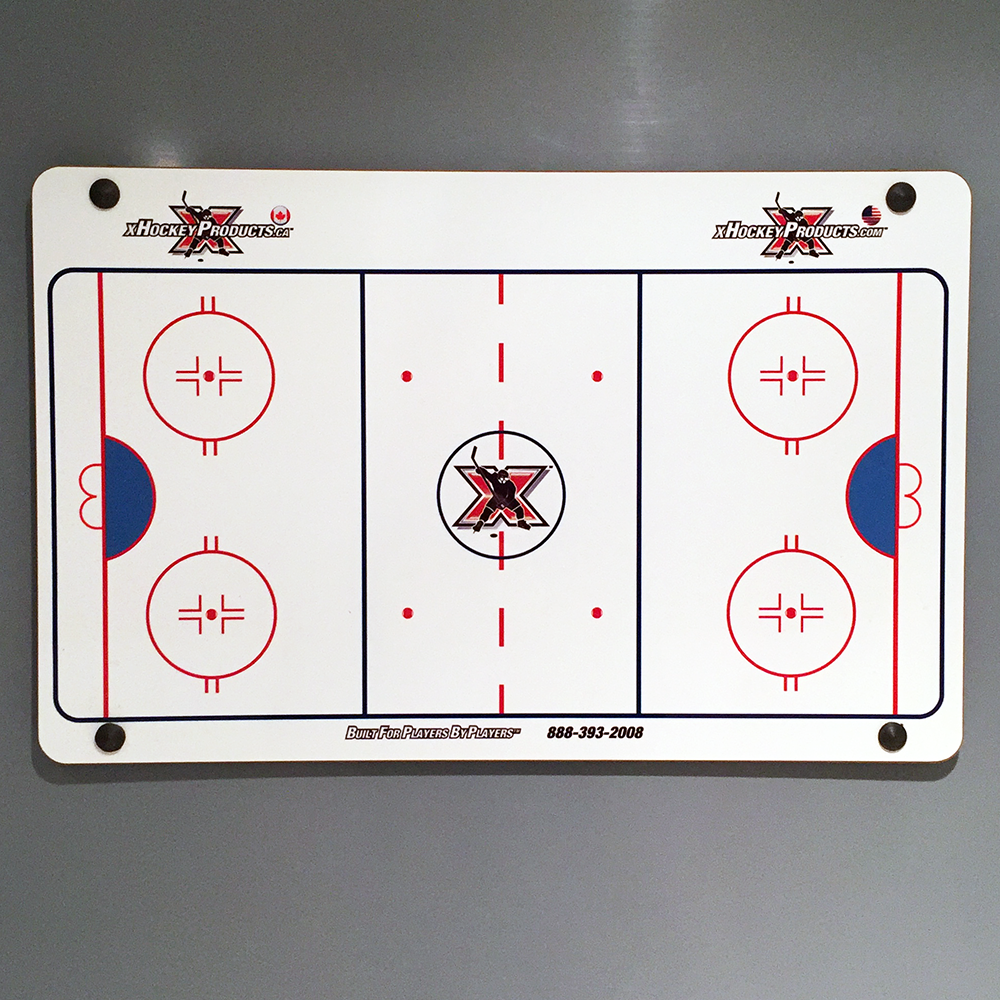 "Hockey Dry Erase Coach Board - Elite Suction Cup 15""x24"""