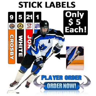 xDecals Team Stick Labels (Order up to 20)