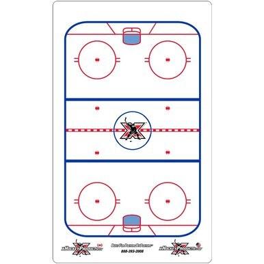 "Hockey Dry Erase Coach Clipboard 10""x16"" (6 Pack)"