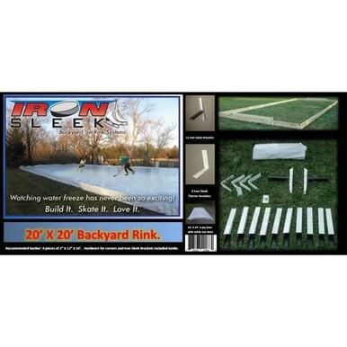 Iron Sleek 20 x 30 Skating Rink Kit