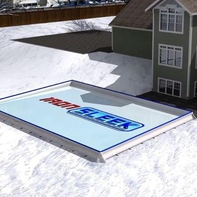 Iron Sleek 25 x 50 Skating Rink Kit