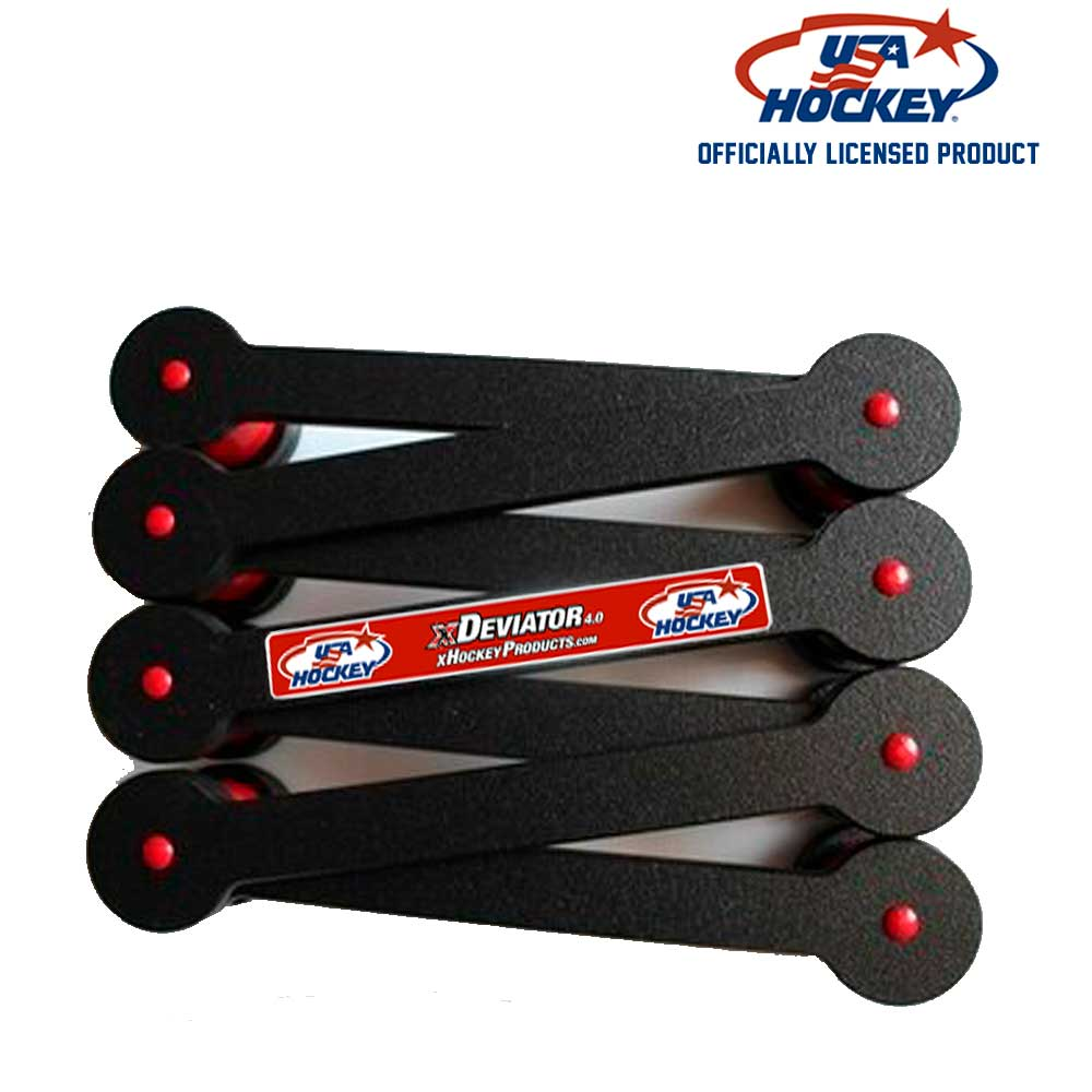 USA Hockey xDeviator™: The original configurable, portable stickhandling tool with seven openings to attack. Ideal for developing and fine-tuning stickhandling patterns in tight spaces.
