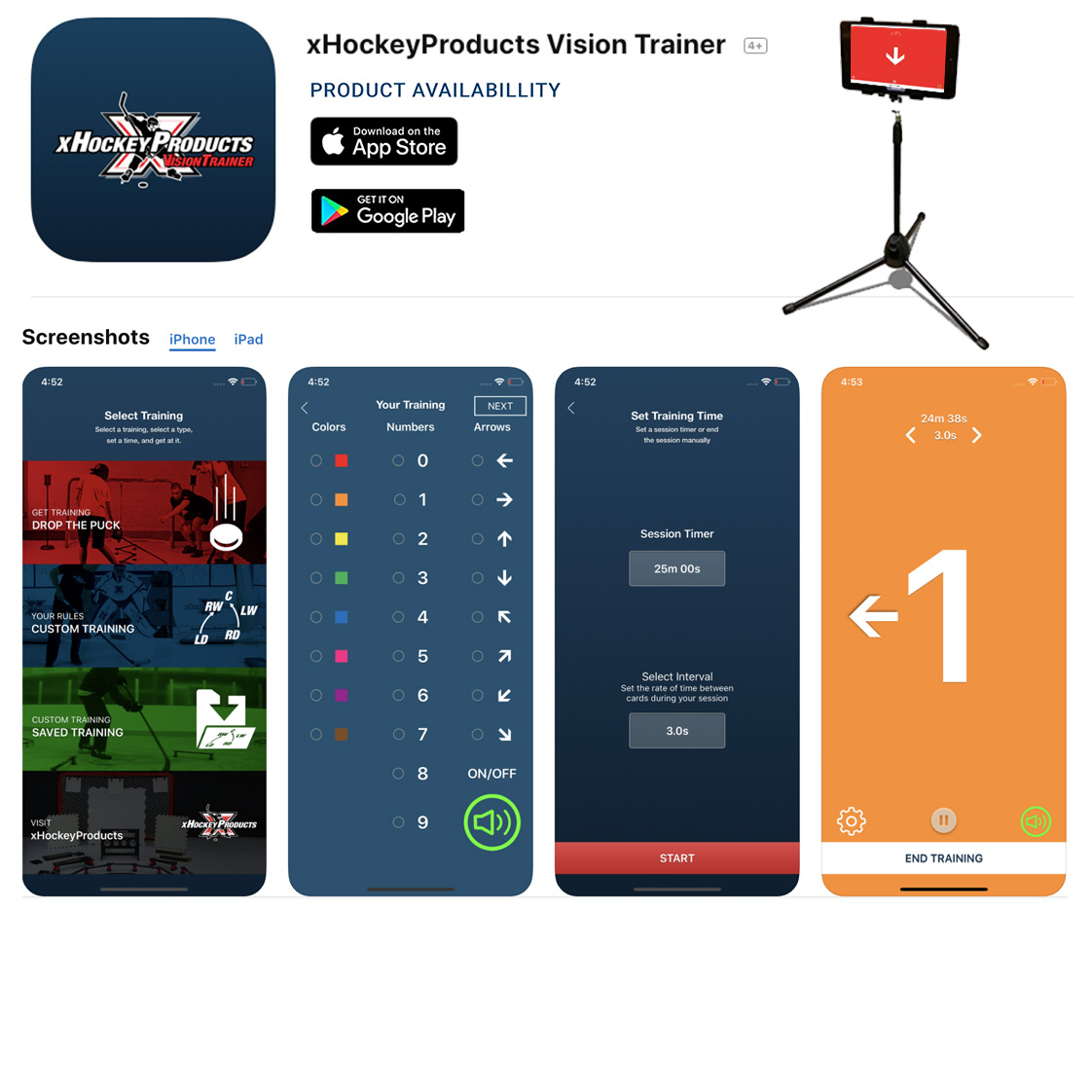 XHP Vision Trainer App