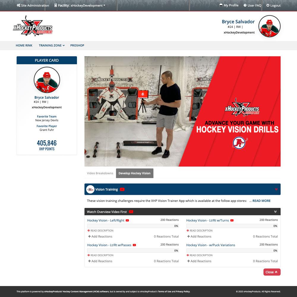XHP Vision Training Program