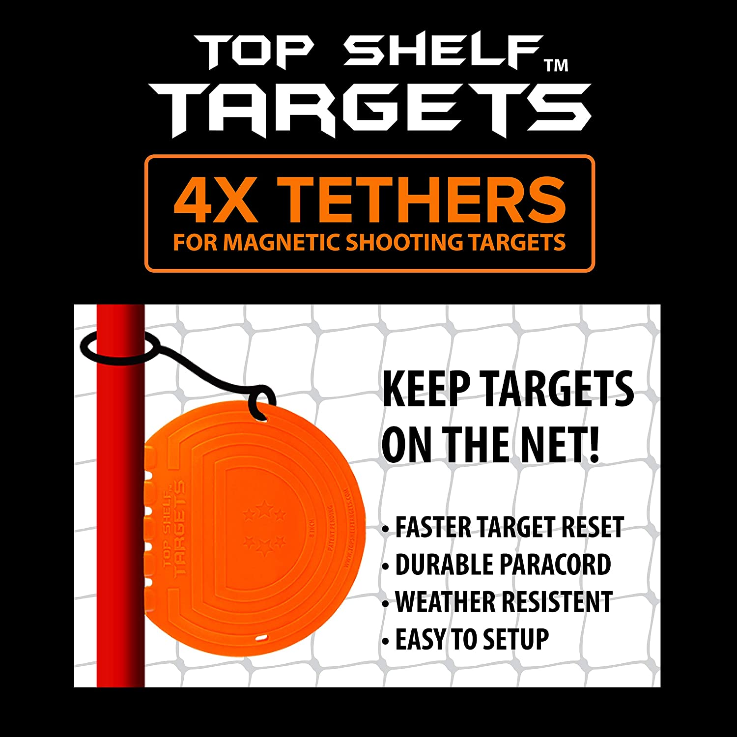 Top Shelf Targets Tethers (4-Pack)
