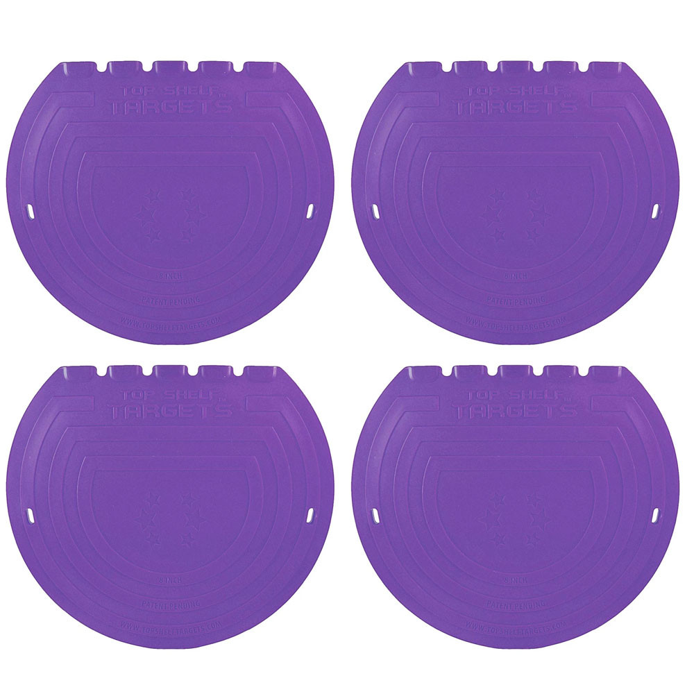 "Top Shelf Targets Sniper Magnetic Shooting Targets - 8"" (4-Pack - Purple)"