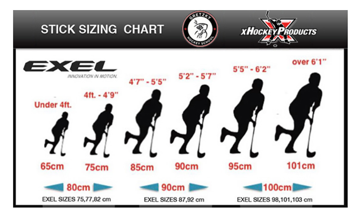 Gretzky Sticks Sizing Chart