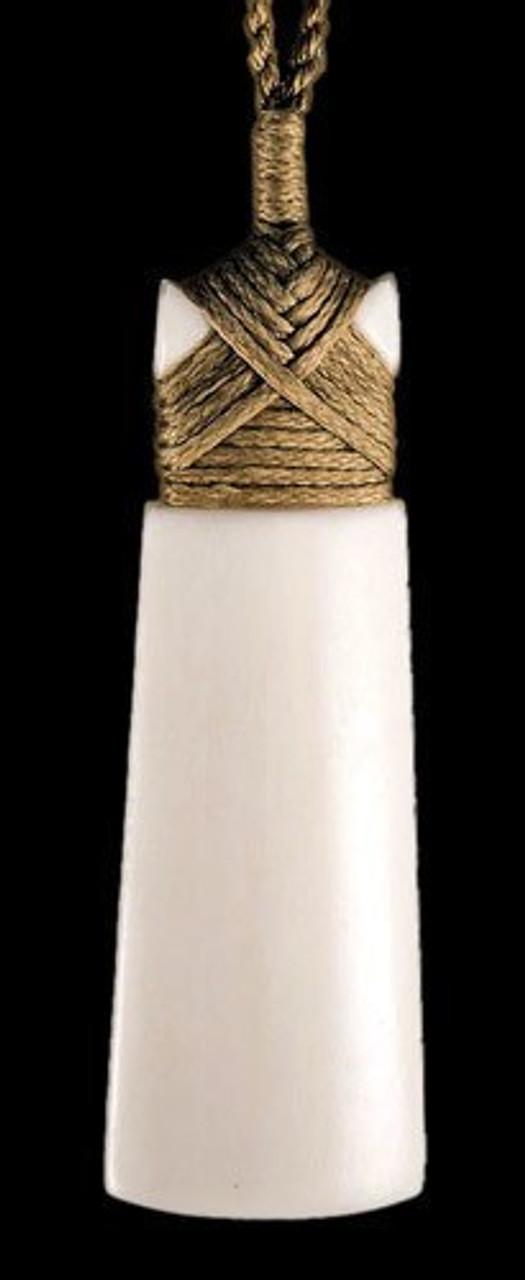 New Zealand Maori Bone Toki Adze Strength Necklace