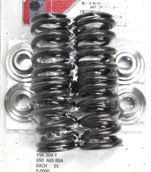 BSA  A50 / A65 TOP QUALITY VALVE SPRINGS TITANIUM COLLARS