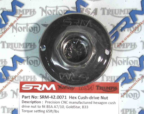BSA  A7 A10 GOLD STAR B33 HEX CUSH DRIVE NUT  SRM-42.0071