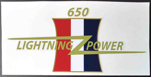 "BSA 650 LIGHTNING POWER CUSTOM SIDE COVER DECAL 7.5"" X 3.5"""