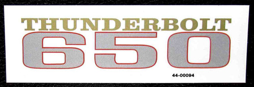 BSA THUNDERBOLT 650 CUSTOM SIDE COVER DECAL
