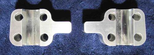 TRIUMPH UNIT CONSTRUCTION T140 ALUM FORK SPINDLE CAPS DISC BRAKES 1973 & UP