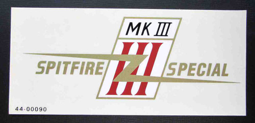 SPITFIRE MK III SPECIAL CUSTOM GAS TANK DECAL