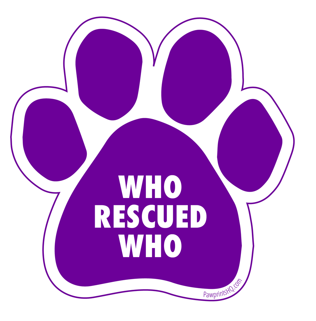 Who Rescued Who Sticker
