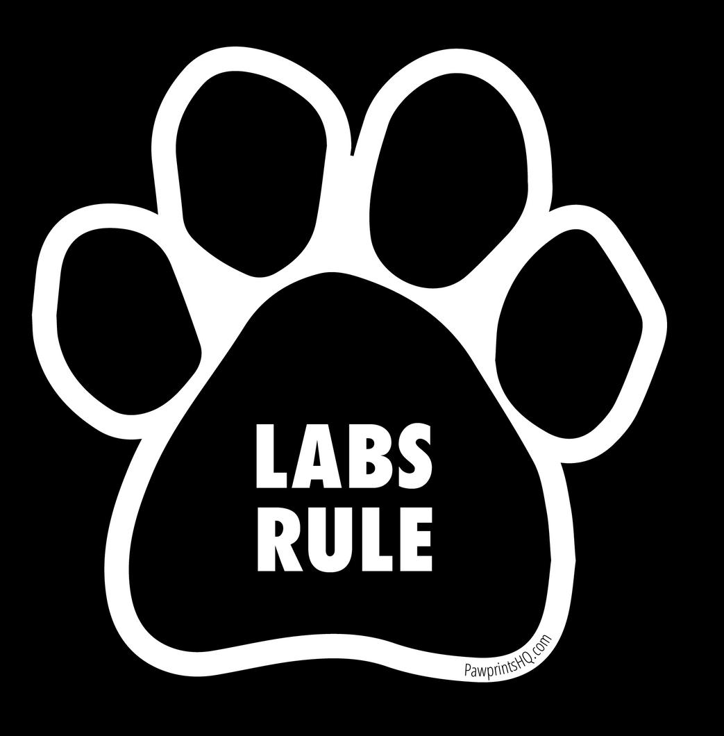 Labs Rule Pawprint Sticker