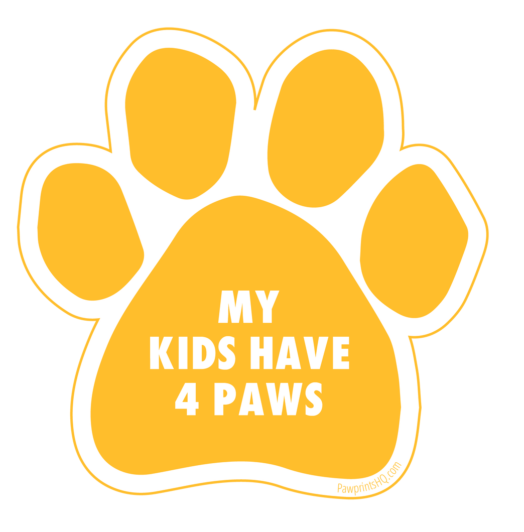 My Kids Have Four Paws Sticker