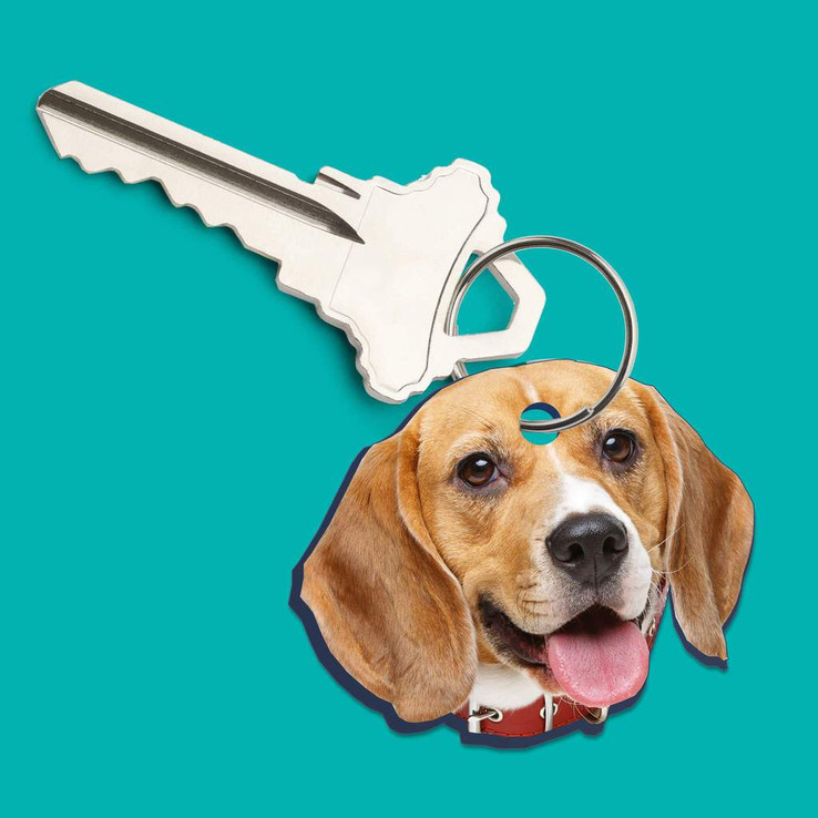 Custom Pet Head Keychain