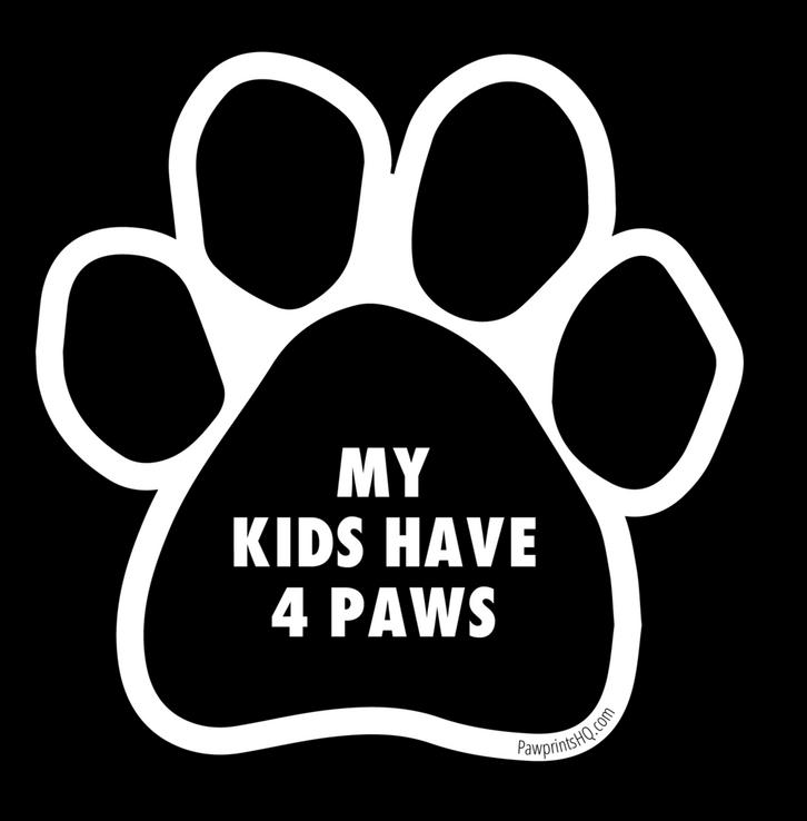 Custom Paw Print Sticker
