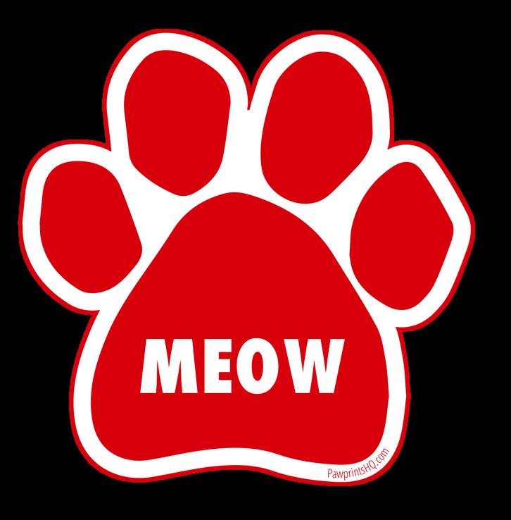 Meow Pawprint Sticker
