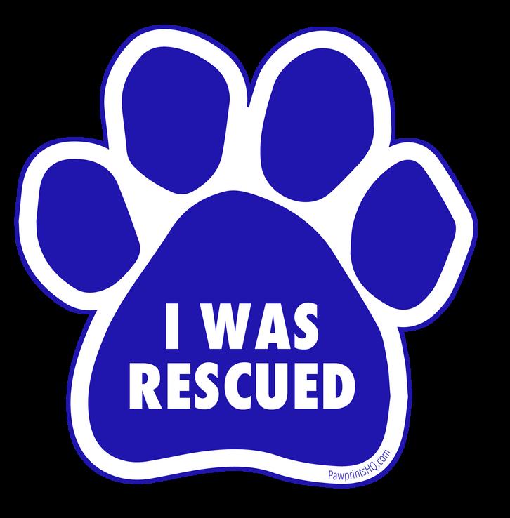 I Was Rescued Sticker