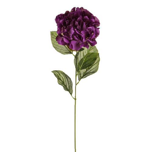 Hydrangea Stem Artificial Silk 72cm Stem Purple