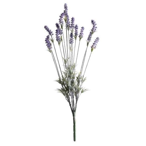 Lavender Plant Artificial 15 Stem 60cm Green Purple
