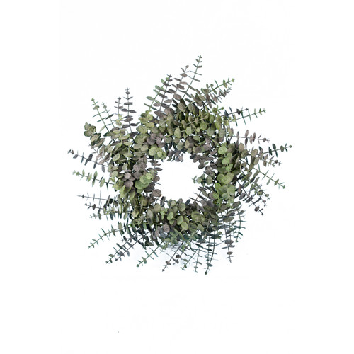 Spiral Artificial Eucalyptus Wreath 60cm
