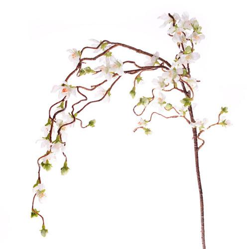 Cherry Blossom Branch Weeping 110cm White