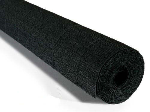 Crepe paper roll 180g (50 x 250cm) Black (shade 602)