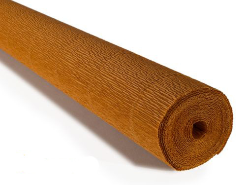 Crepe paper roll 180g (50 x 250cm) Caramel Nut Brown (shade 567)