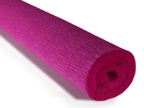 Crepe paper roll 180g (50 x 250cm) Dark Fuchsia (shade 572)