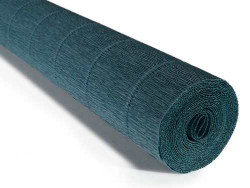 Crepe paper roll 180g (50 x 250cm) Dark Teal Green (shade 560)