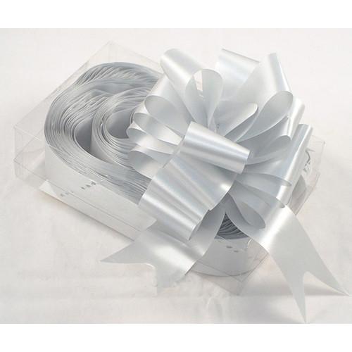 Florist Ribbon Bows 5cm Silver