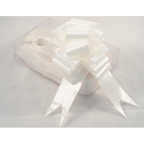 Florist Ribbon Bows 5cm Wedding White