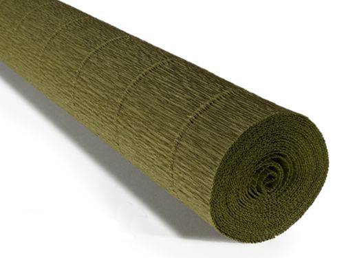 Crepe paper roll 180g (50 x 250cm) Olive Green (shade 17A8)