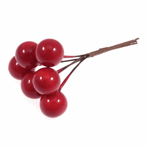 Berries 15mm Red on Wire Artificial x 36