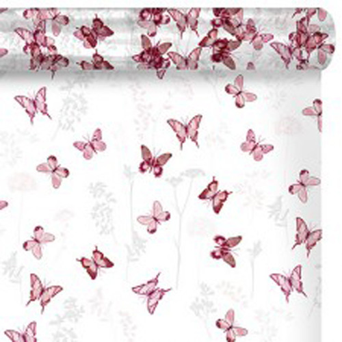 Cello Roll Clear with Pink Butterflies