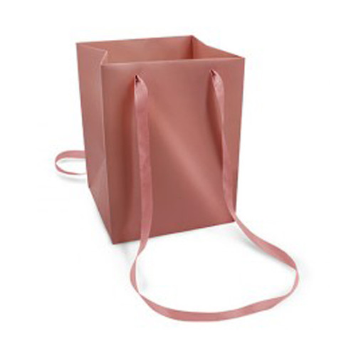 Bouquet Bag Rose Gold with Satin Handles