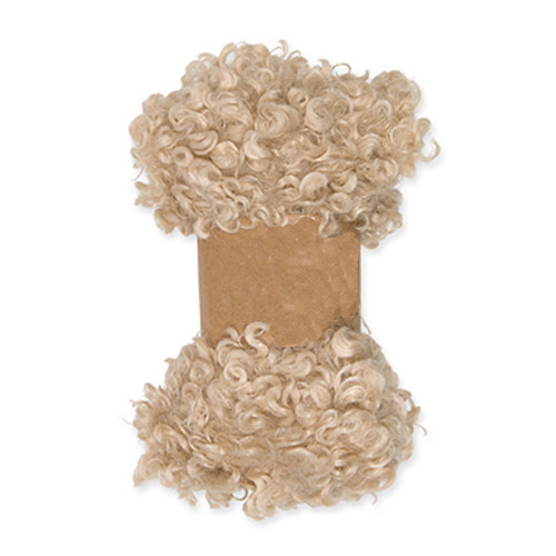 Faux Sheepskin Fleece Trim 0.9m x 10cm Wide Beige