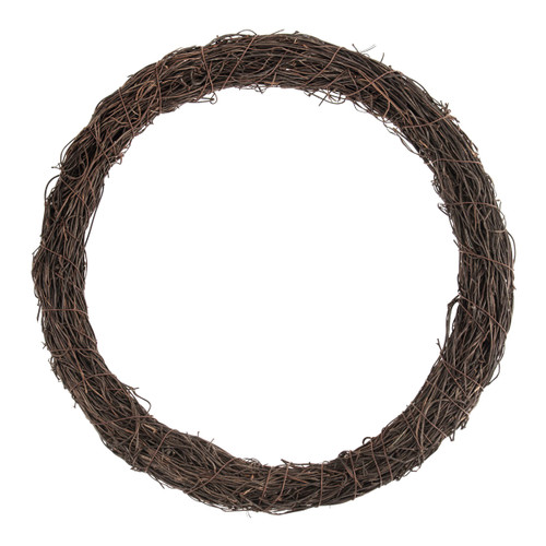Wreath Base Dark Natural Rattan 30cm Diameter