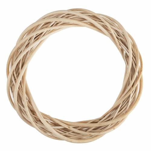 Wreath Base Woven Natural Light Willow 30cm