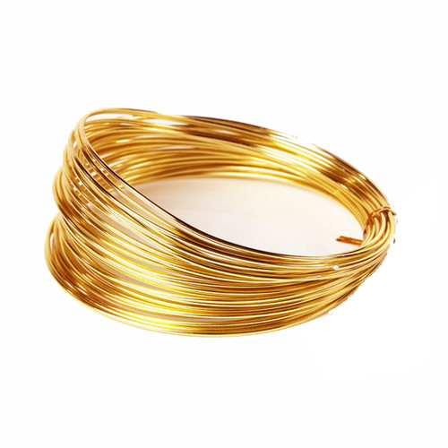 Aluminium Wire 100g Light Gold