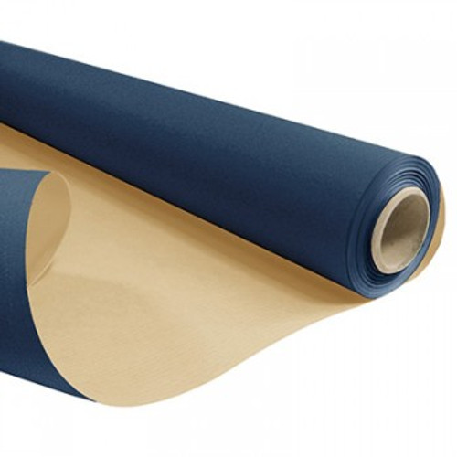 Kraft Paper Roll 50cm x 200m 6kg Dark Blue / Natural Back