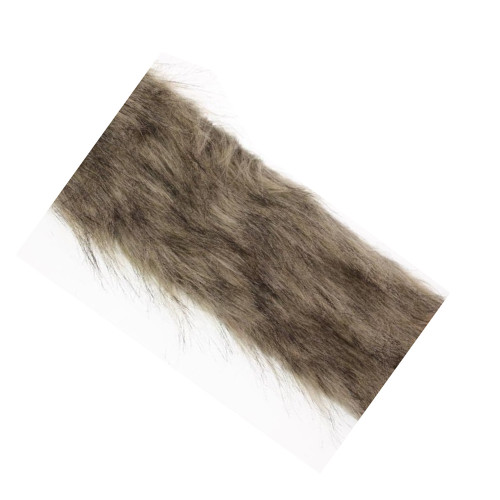 Grey Faux Fur Ribbon Trim