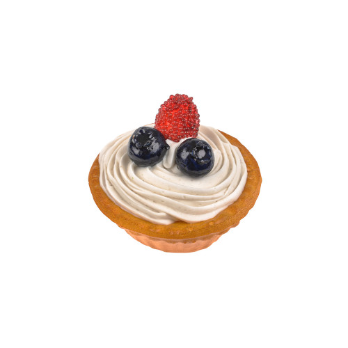Artificial Bread Iced Cupcake With Fruit 7cm Diameter