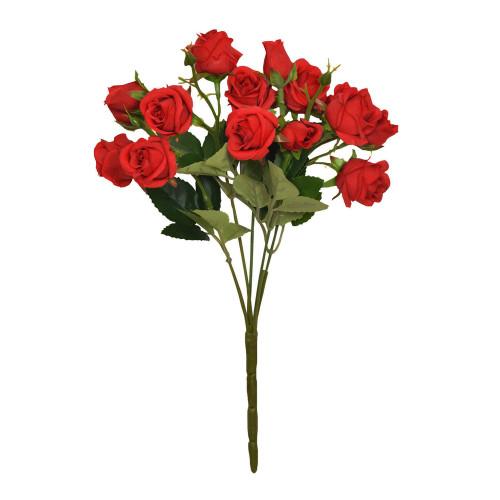 Mini Rosebud Flower Artificial Bunch Red